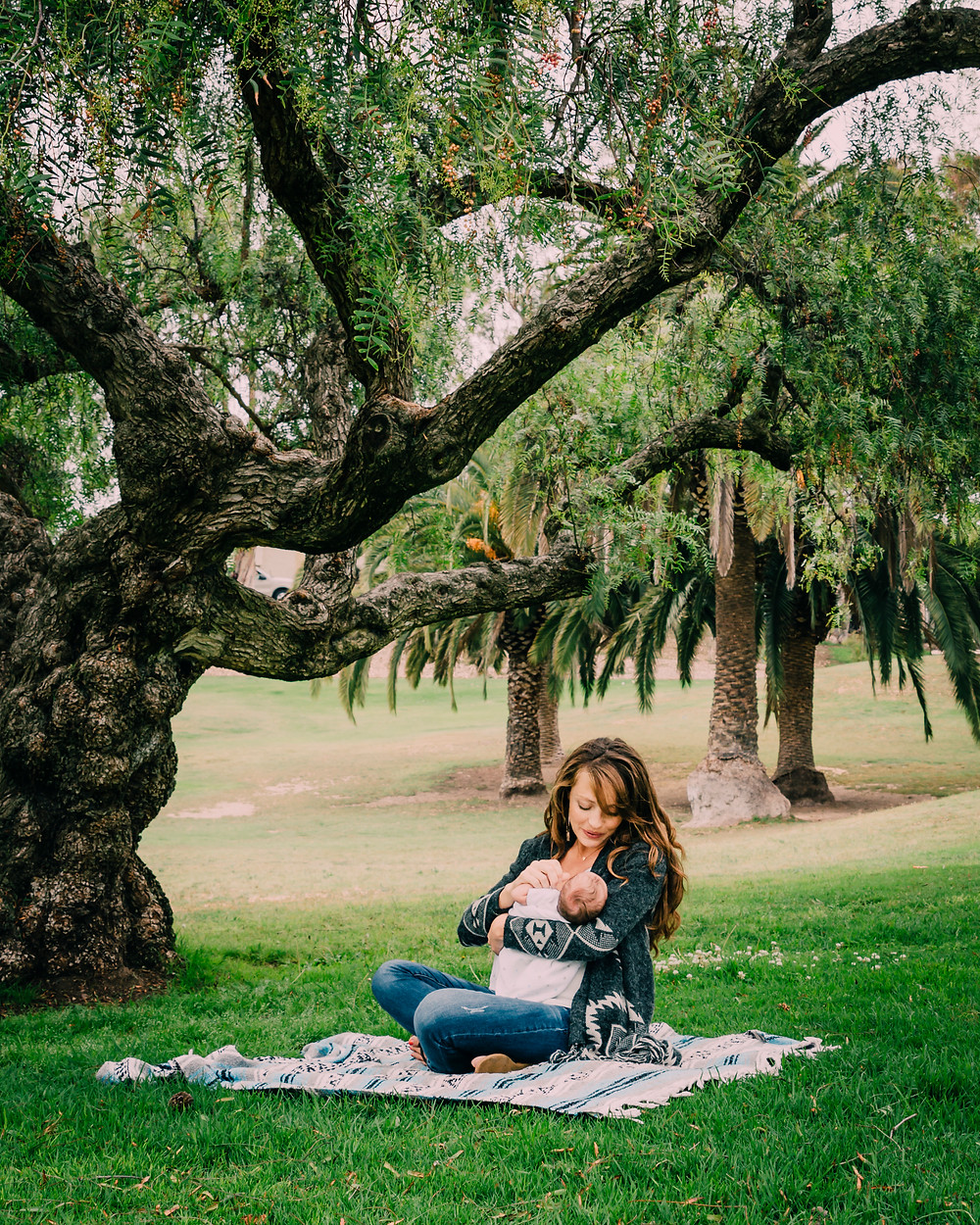 Mother and Newborn Lifestyle Portrait Encinitas