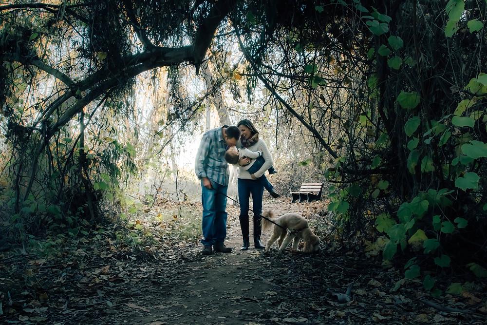 Family Portrait Kissing Encinitas