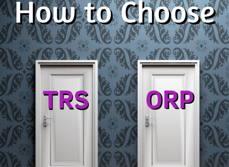 New Faculty Member?  How to Choose between TRS & ORP