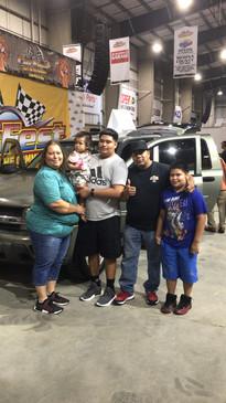 Car Winner's family!