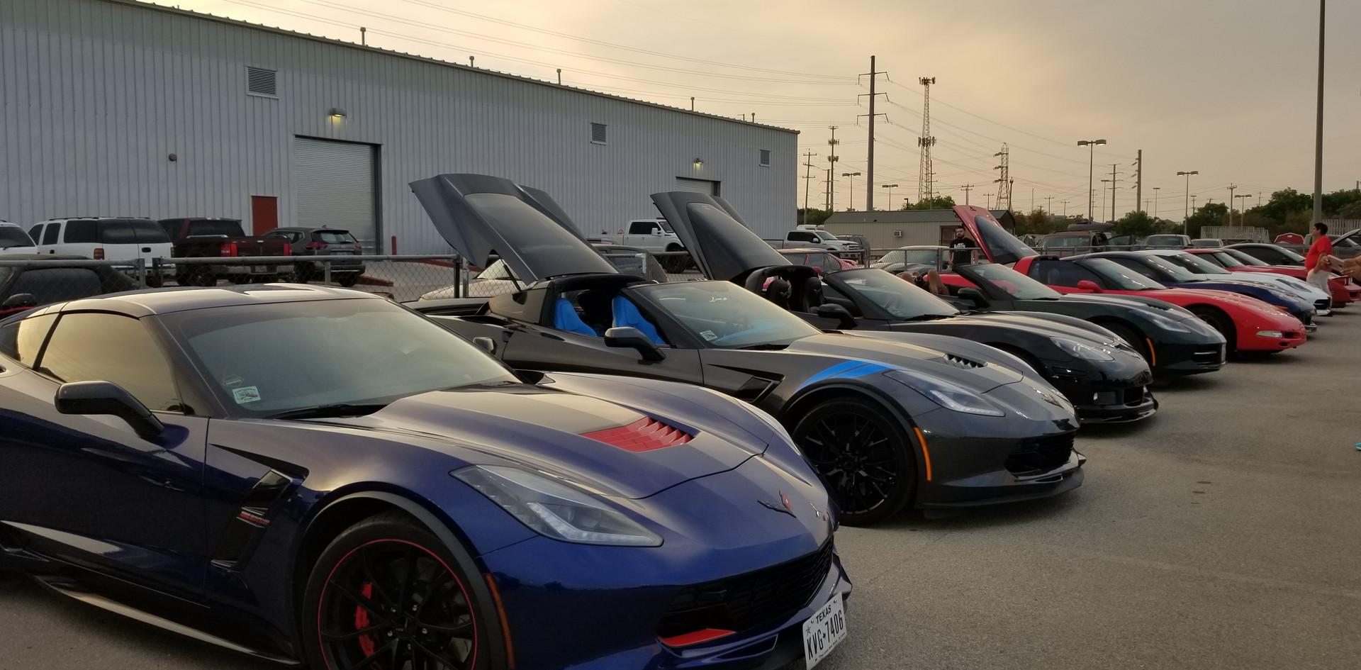 Row of cars at FNL