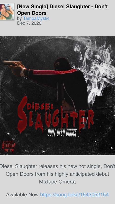 """Diesel Slaughter Releases New Single """"Don't Open Doors"""""""