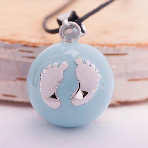 Голубой с серебряными ножками