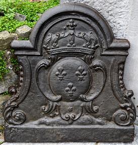 Plaque de cheminée Héralidique XVIIIeme