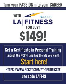 LA Fitness Flyer