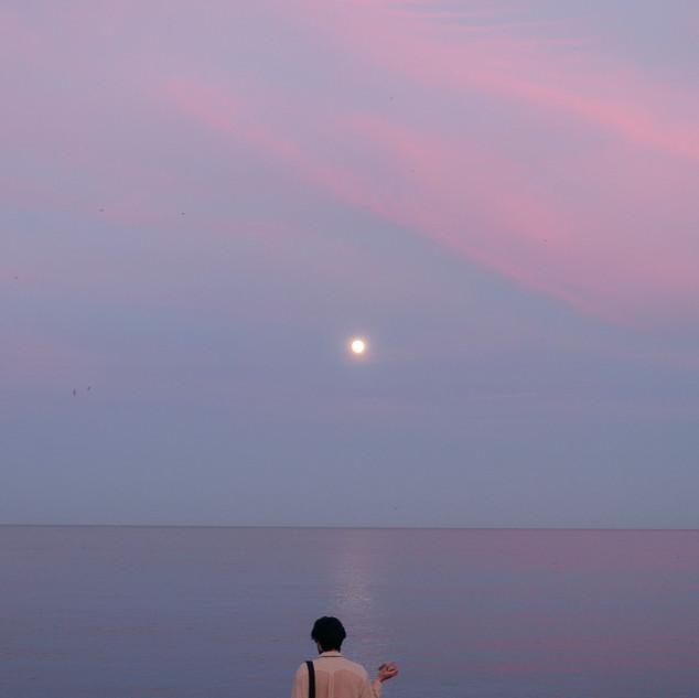 Boy and Moon