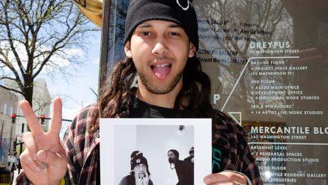 Paris holding his print