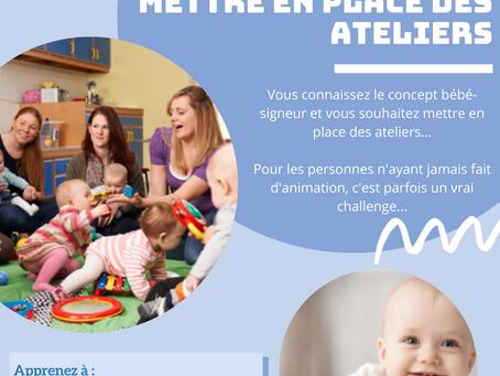 Devenez animateur/trice sur le concept bébé signeur