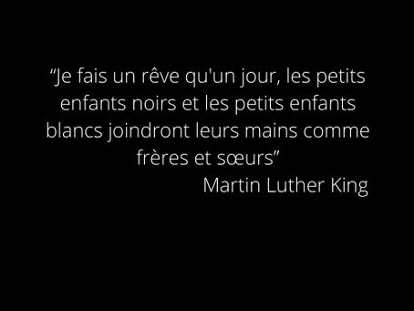 """""""Chacun a la responsabilité morale de désobéir aux lois injustes."""" M. Luther King"""