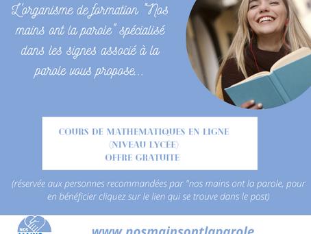 Cours de mathématiques pour personnes sourdes ou malentendants gratuits