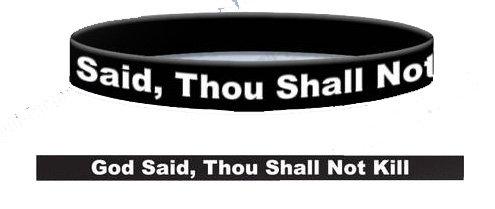 Thou Shall Not Kill Wristband