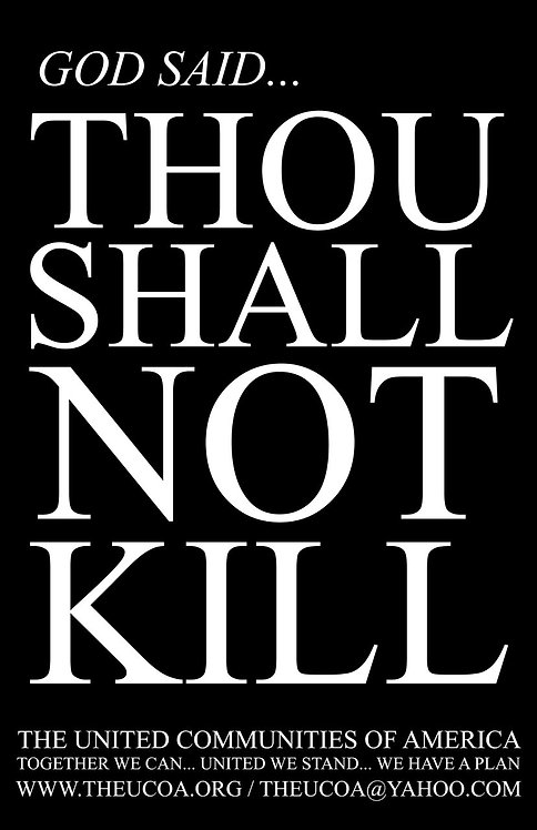Thou Shall Not Kill Poster