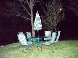 Back table with gas grill /full moon