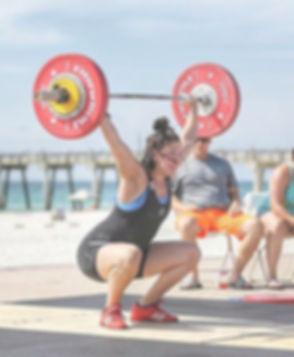 Jessica North weightlifting