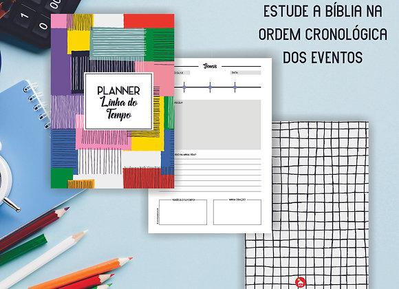 GEOMÉTRICO | Planner Bíblico Linha do Tempo (PDF)