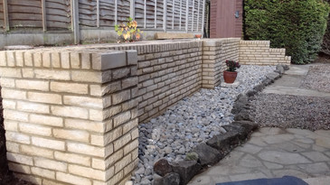 Buff Decorative Block Walling
