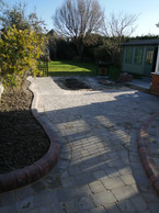 Matching Brindle Kerbs with Ash Tumbled Block Patio