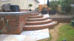 Steps Leading to Terraced Patio