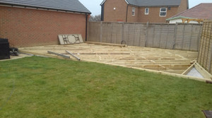 Timber Sub-frame for Decking