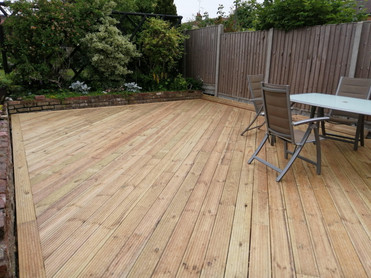 Timber Decking with Margin Border
