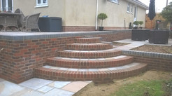 Quadrant Steps with Natural Stone Inset