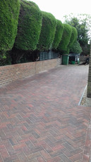 Brindle Block Paved Drive and Brick retaining Wall