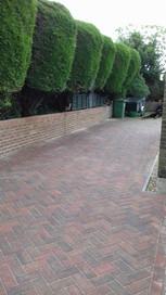 Brindle Block Paved Drive and Brick retaining Wall