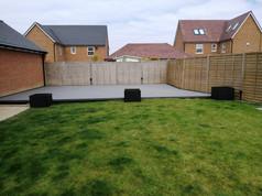 Stone Grey Composite Deck and Composite Planters