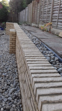 Decorative Walling showing Capping Course