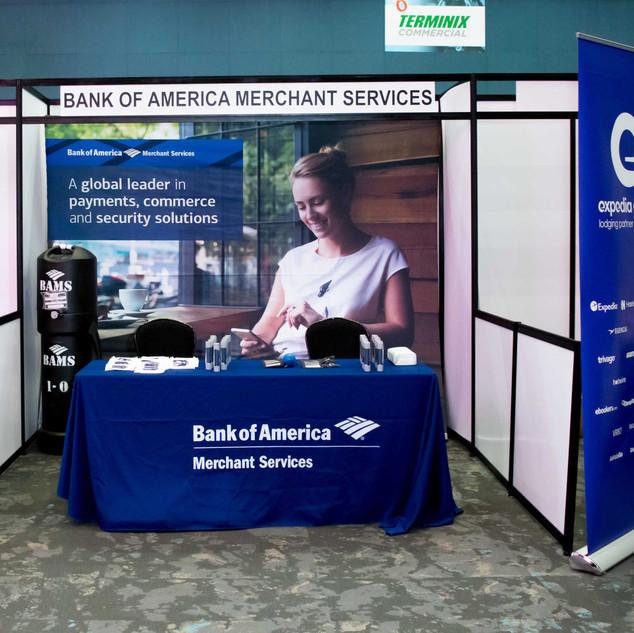 Exhibición stand Bank of America