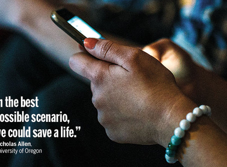 Science Magazine Article on Mobile Assessment for the Prediction of Suicide (MAPS) Research Study