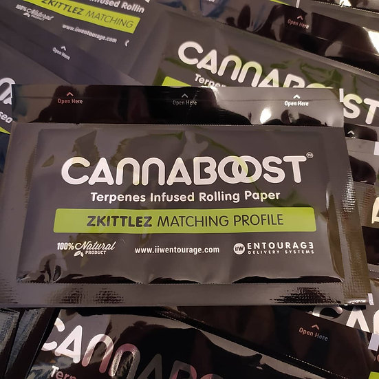 CANNABOOST™ Infused rolling papers, Zkittles matching profile 50 units