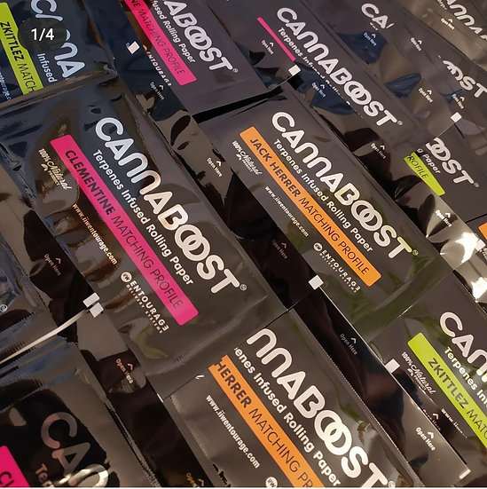 CANNABOOST™ - Mix Pack Flat rorlling papers 12 units