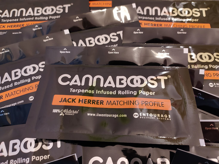 CANNABOOST™ terpenes infused rolling paper, Jack Herrer matching profile 10 unit