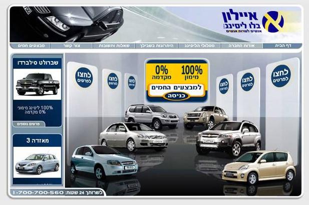 אתר מכירות וניהול מלאי לחברת איילון ליסינג