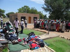 Clothes donation at Winterveldt 2011.JPG