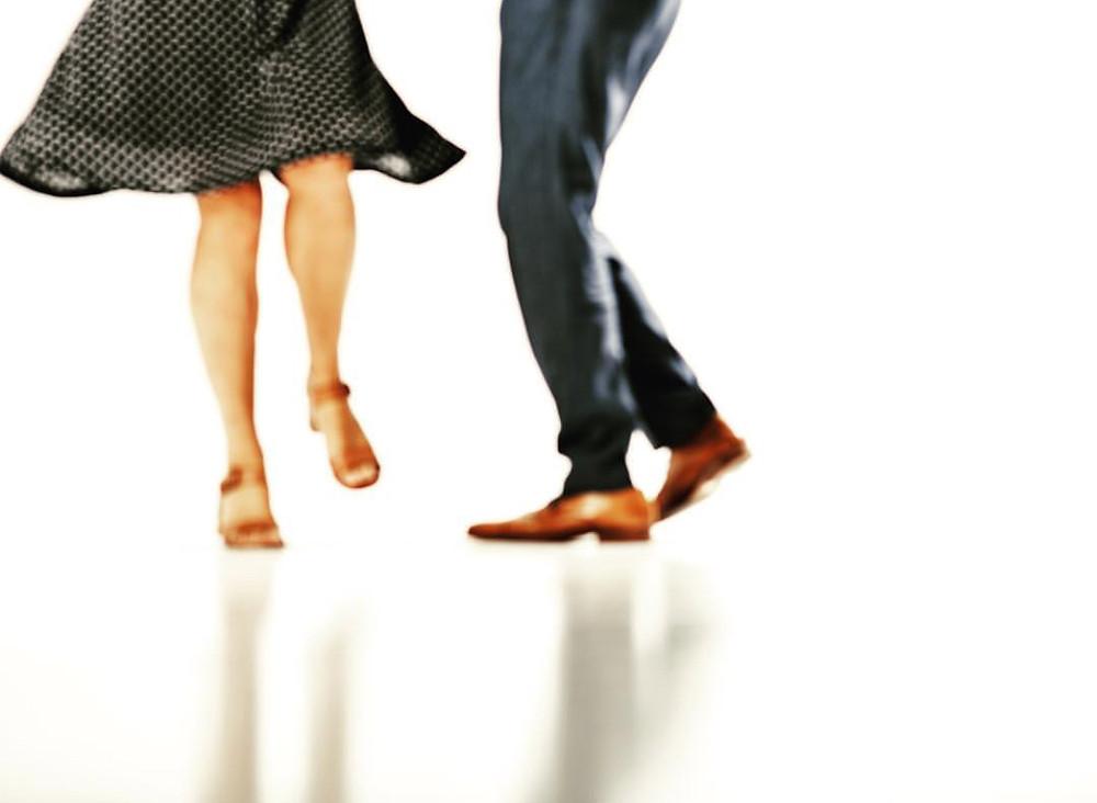 Tanzfoto für eine Einladungskarte