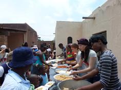 Food giving to1500 poor people Wintervel