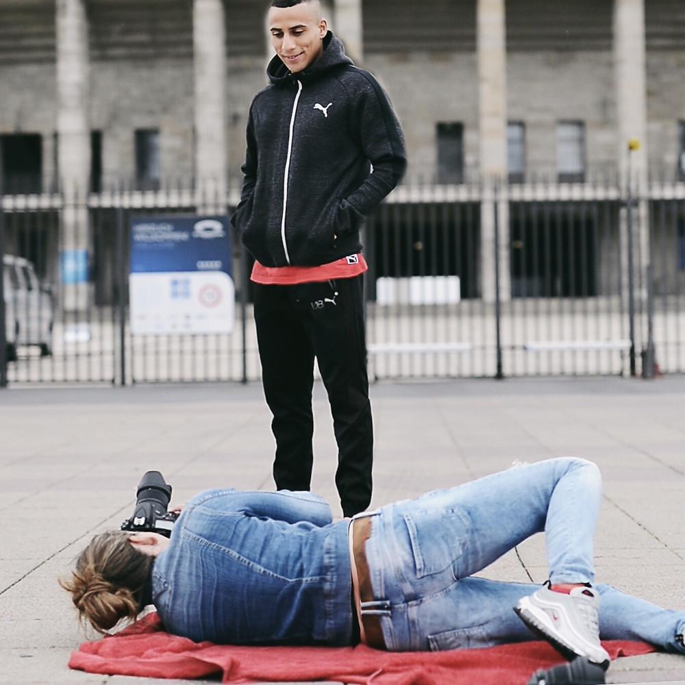FOTOSHOOTUNG BERLIN OLYMPIASTADION HERTA SPIELER BEN-HATIRA