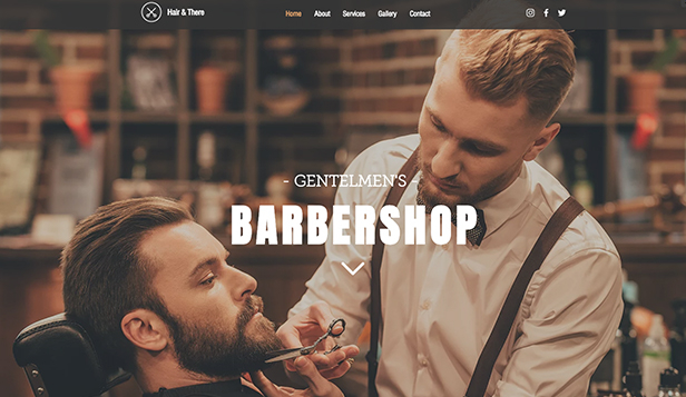 Se alla mallar website templates – Barberarshop