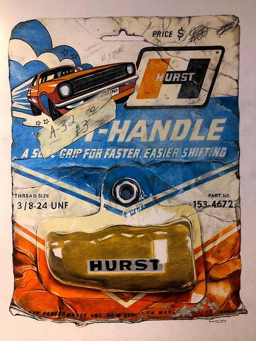 Vintage Hurst Shifter - Original Artwork