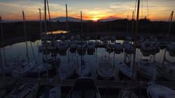 Port Sainte-Marie coucher de soleil