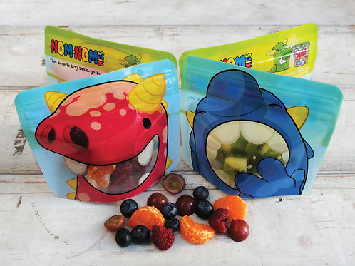 4x Reusable Snack Bags by Nom Nom Kids