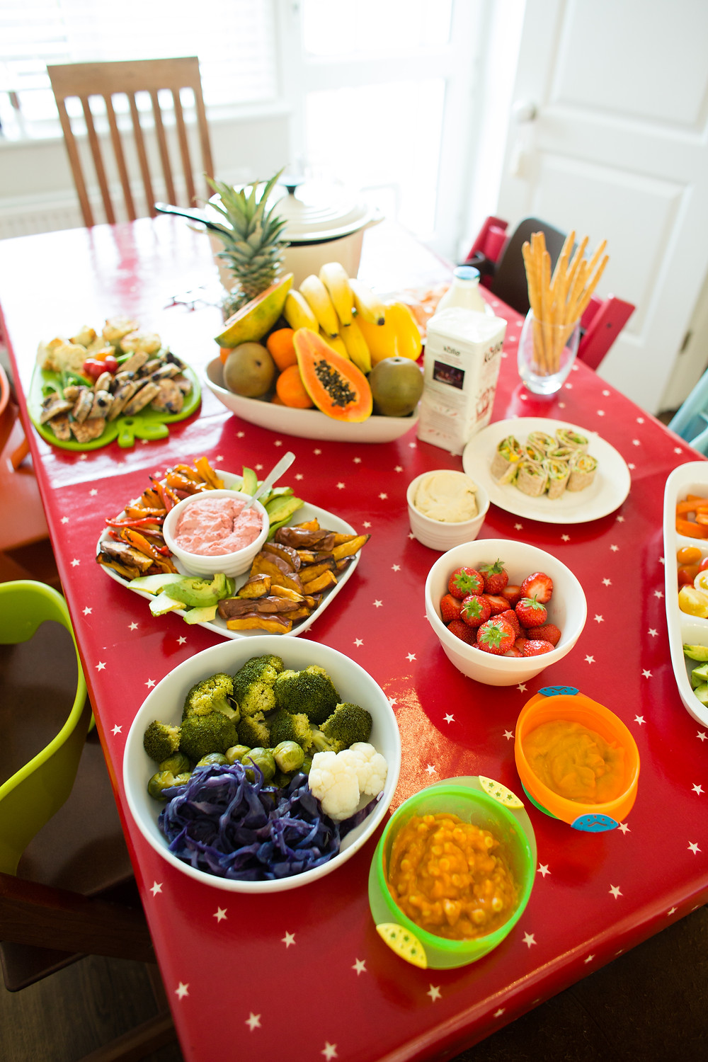 Foods on trial at our weaning workshop!