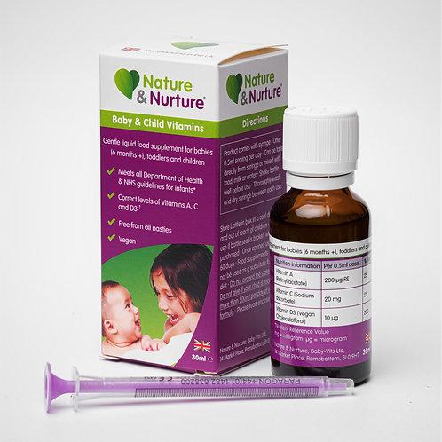 Nature & Nurture Baby & Child Vitamins (30ml)