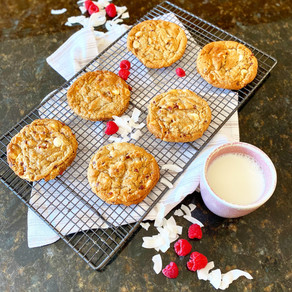 Vegan Coconut & Raspberry Epic Cookies