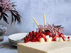 Strawberry & Elderflower Layer Cake