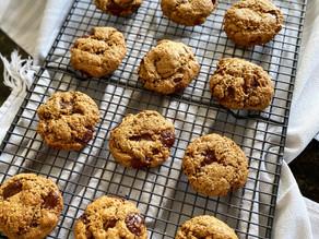 Chocolate, Rye & Olive Oil Easy Vegan Cookies