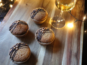Hazelnut Frangipane & Volcanic Chocolate Mince Pies
