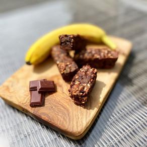 Vegan Banana Brownie Bars, GF & Refined Sugar Free